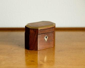 Small Rosewood Tea Box
