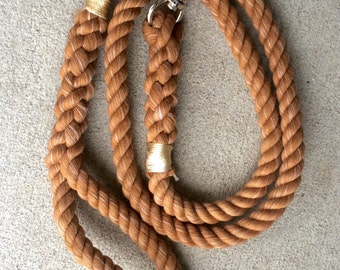 Rope Leash--Cotton--Solid Camel