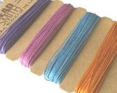 Hemp Cord - Pastel Colours - Pale Purple - Pink - Pale blue - Gold -  10 lb test - THEMPPAS10