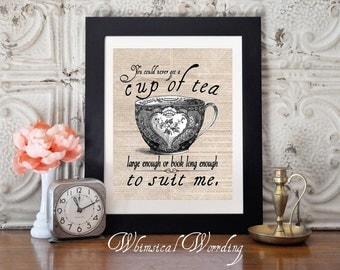 8x10 C.S. Lewis Quote, DIY, Vintage, Cup Of Tea Printable, Teacup, Instant Download
