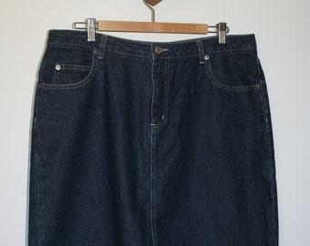 """90s """"mom"""" denim skirt"""