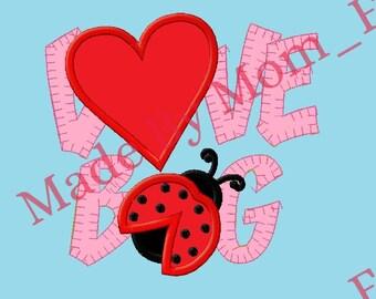 LOVE BUG - Lady Bug Patch Applique