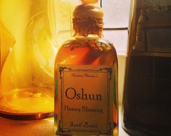 Oshun Honey Blessing Spell Bottle