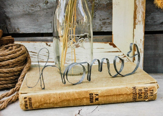 Handmade Galvanized Metal Home Word Rustic Decor Shabby Chic