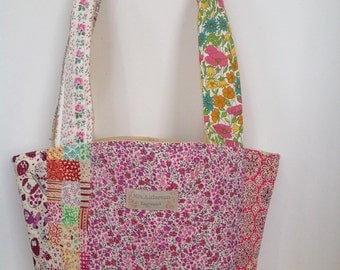 Patchwork Tote Bag with Liberty Print