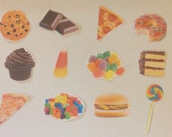 Junk food sticker pack cute junk food stickers