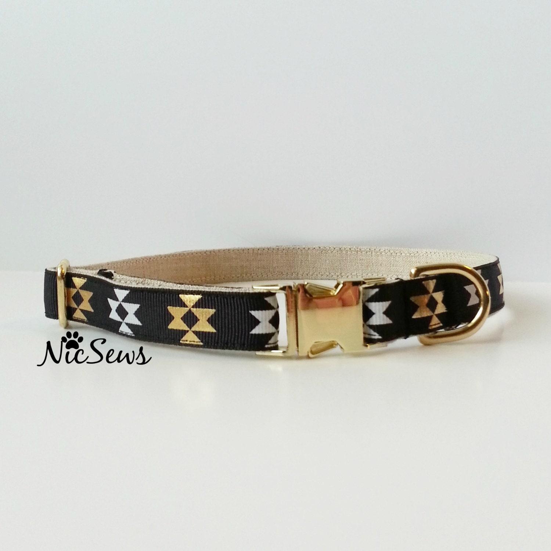 Rose Gold Buckle Dog Collar