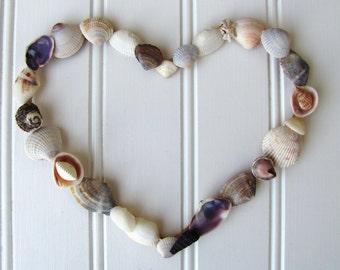 Seashell Heart Coastal Art