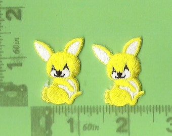 Yellow Bunnies iron on patch