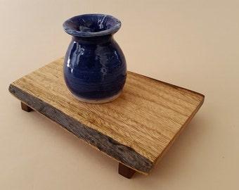 Handmade Live Edge White Koa Vase Stand