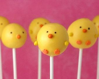 Baby Chick Cake Pops Easter Shower Spring