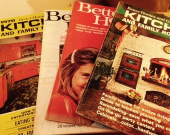 1960's and 1970's Better Homes & Gardens Magazines