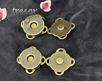 14mm Magnetic Buttons Warehouse dirty 14mm sewing Magnetic Snaps closures anti brass