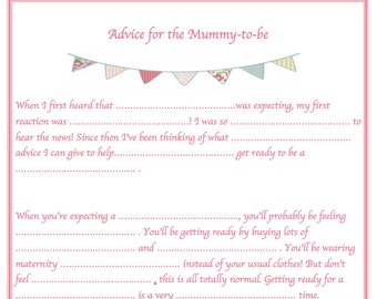Baby Shower Games, Wishes For Baby, Advice For Mummy-To-Be, Baby Prediction