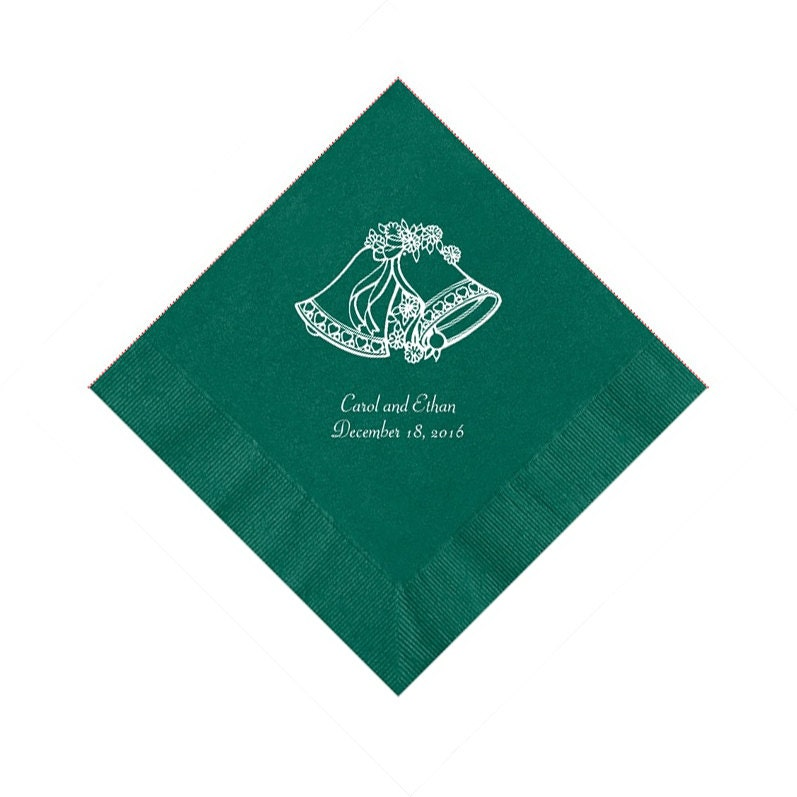 Wedding Bells Wedding Napkins Personalized Set Of 100 Napkins