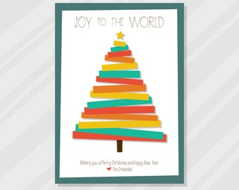Christmas Card, minimal, abstract, modern, Christmas tree