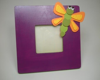 Dragonfly wooden picture frame