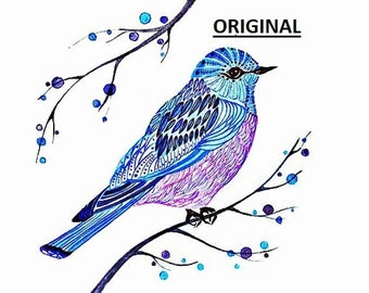Blue Bird Art... ~Counted~ Cross Stitch Pattern ~Computer Generated~ BBXS