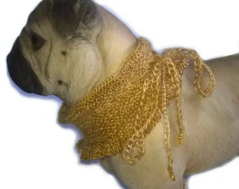 Dog collar dog scarf for any party dog scarf, dog cowl, dog neckwarmer, dog accessories small dog puppy scarf, dog scarves, greyhound cowl,