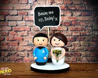 Spock and Bride Star Trek Wedding Cake Topper