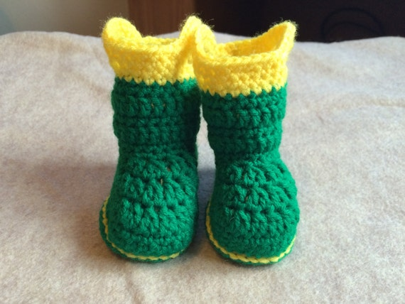 Crocheted Baby Rain Boots Crocheted by RebeccasRusticDesign