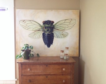 Cicada-Original Painting by Abbey Adams