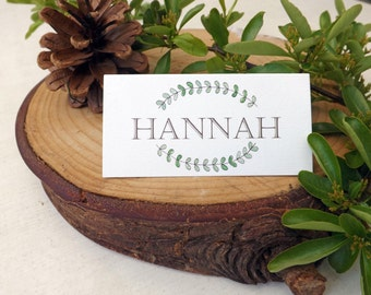 Personalised Woodland Walk Wedding Place Name Cards