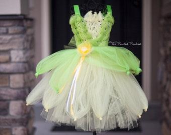 Floor Length Princess Tiana Inspired Princess Tutu Dress