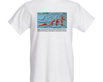Evolution T Shirt, Art T Shirt, Men's T Shirt, Women's T Shirt, Modern Art T Shirt, Cheese Curl Art T Shirt