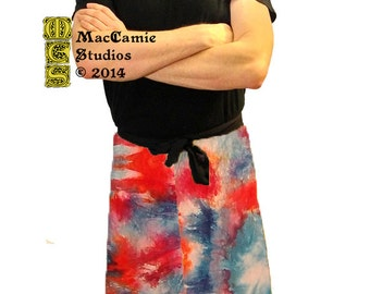 Watered Rose Yoga Wrap Pants: 100% Cotton, Hand Dyed w/ Particolor Options