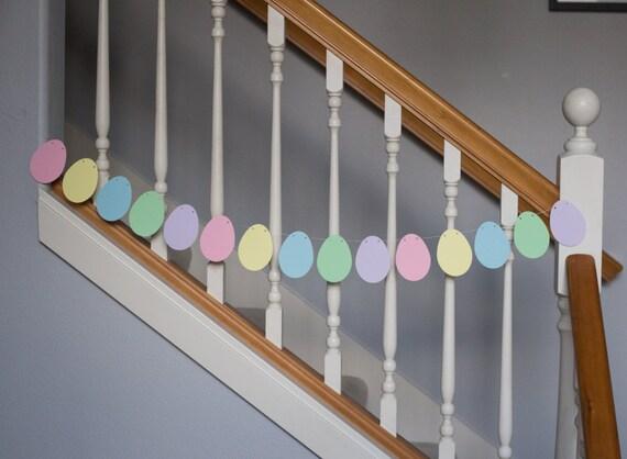 Easter Egg banner/garland, pastels, Easter, spring