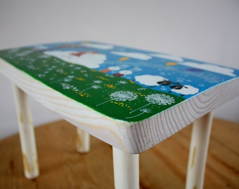 Kids Furniture Wooden Small Bench Wood Small Stool