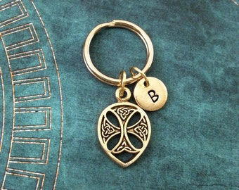 Celtic Keychain VERY SMALL Personalized Keychain Celtic Cross Keychain Celtic Knot Keychain Irish Keychain Celtic Keyring Medieval Keychain