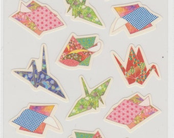 Japanese Origami Stickers - Hallmark - Reference B2655-58