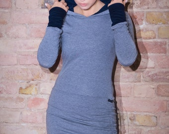 Hoodie Dress Buthan Grey / Hooded dress