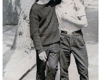 Gay Thinking of You, Thinking of You, Vintage Photo Cards, 2 Men Kissing    ****VMTY1002