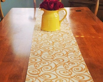 Mandarin Table Runner ~~~~ Orange Table Runner ~~~Table Runners For Weddings or Home Decor
