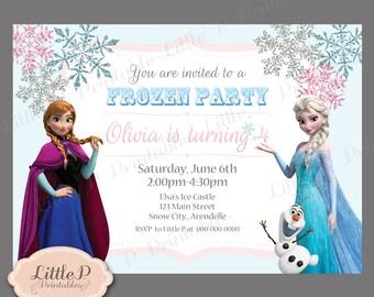 Frozen Invitation. Frozen Birthday Invitation. Frozen Party Invitation. Frozen Invitation Printable. Elsa Invitation. Anna Invitations 040