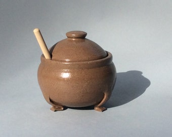 Little Stoneware Honey Pot With Feet