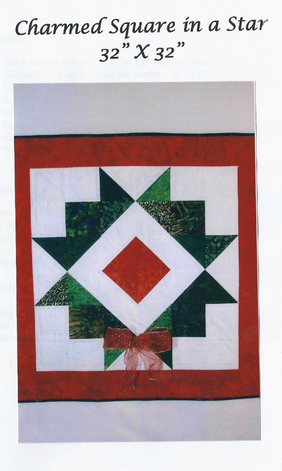 Christmas wreath wall hanging quilt pattern from the charmed