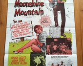 Moonshine Mountain Original 1 sheet movie poster.   Rare 1964 Herschell Gordon Lewis original