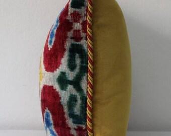 """17""""x 17"""" Original hand loomed special design ikat velvet pillow case-Velvet pillow-Turkish pillow-Pillow case-IVP000105-"""