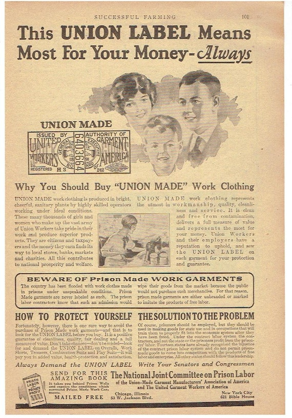 Union labels dating vintage clothing
