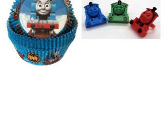 Thomas the Train Baking Cups and Rings