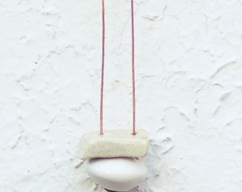 Clay Pendant Necklace- Simply Lovely Sandstone