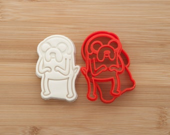 Adventure time. Jake Cookie cutters. Gingerbread and cookies.