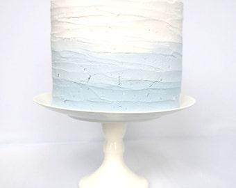 Faux Cake / Dummy Cake / Fake Cake / Cake Smash Photoshoot prop - Blue Ombre Cake