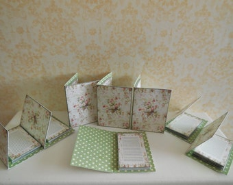 1:12 DOLLHOUSE NOTEPAD, green interior