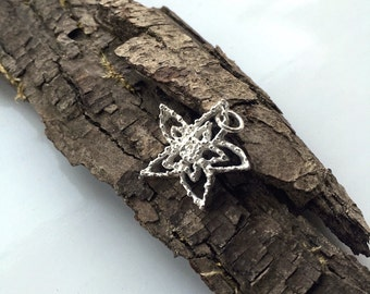 Starfish necklace silver star necklace filigree necklace - mermaid jewellery