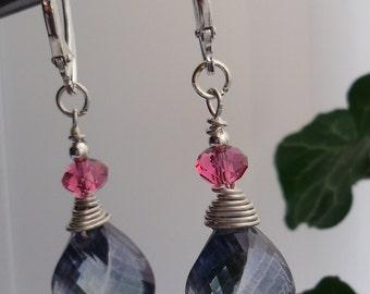 Handmade, original Sterling silver earrings.